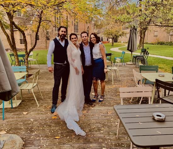 Met het Bruidspaar