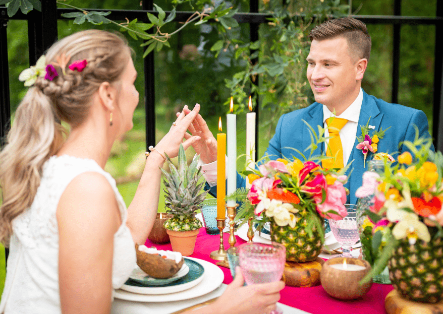 Botanic styled wedding shoot: voel de tropical vibes!