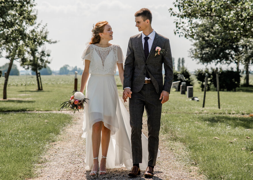 Romantic barn wedding: laat je inspireren door deze rustieke bruiloft op landelijke trouwlocatie