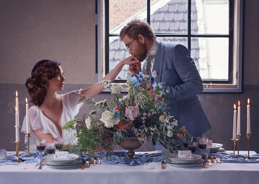 Vintage Blue: een moderne styled wedding shoot met trendkleur poederblauw