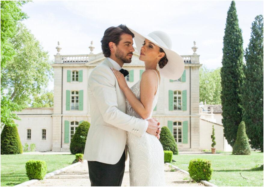 Klassieke en elegante wedding styled shoot in de Provence