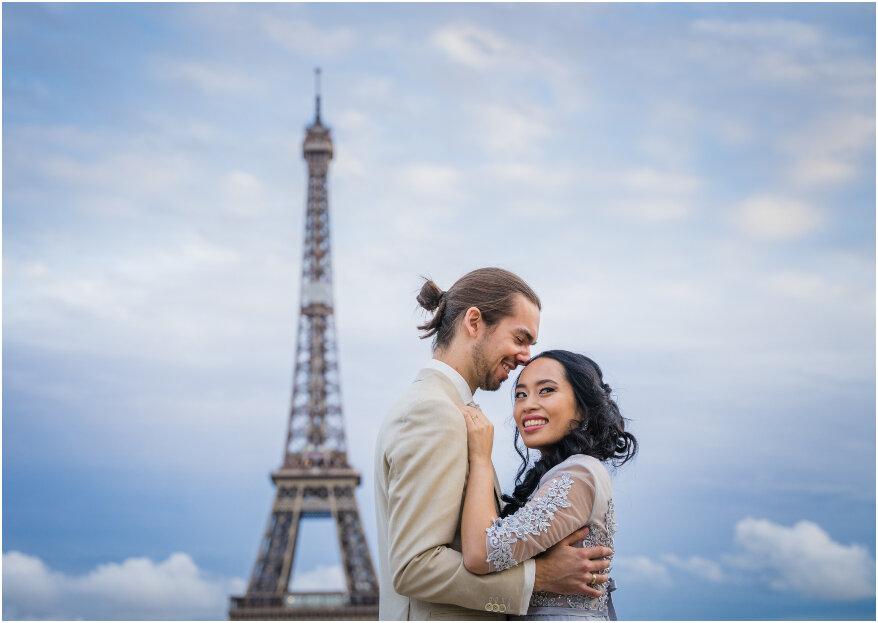 Een waanzinnige after wedding shoot in de stad van de liefde: Parijs!