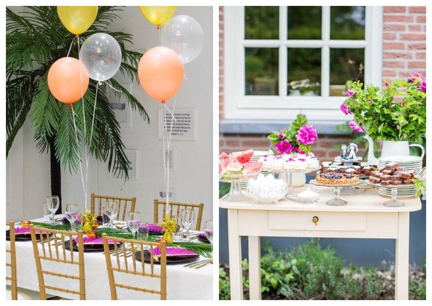 Binnen 5 stappen de decoratie voor jullie bruiloft kiezen