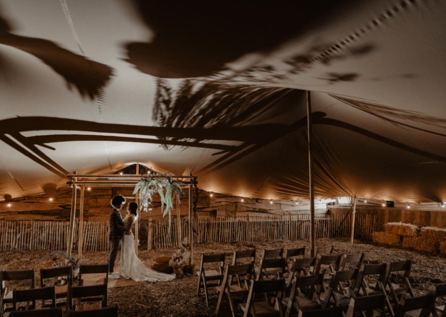 Bohemian ranch styled shoot: een feilloze combinatie van bohemian vintage en de laatste bruiloft trends.
