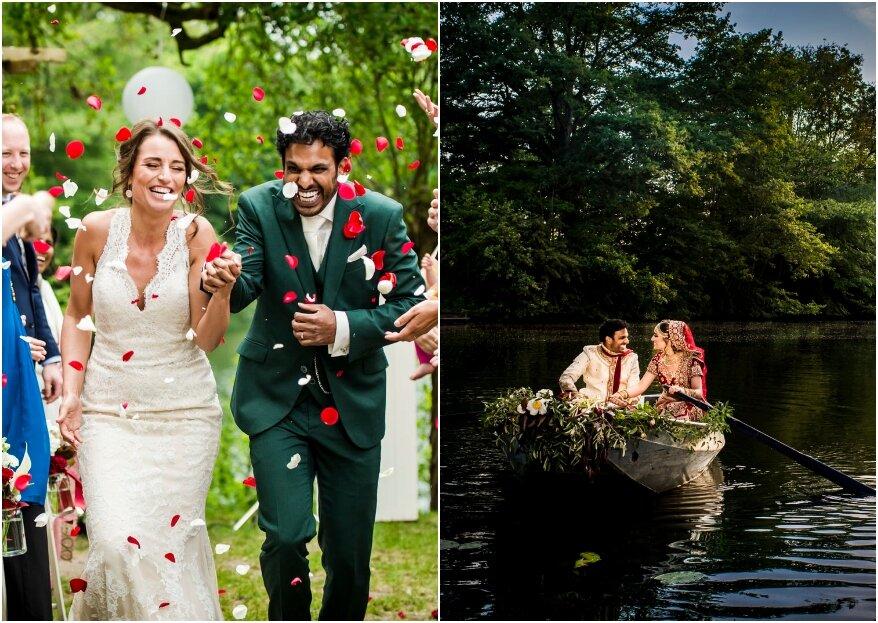 De real wedding van Sanul & Denise met een knalfeest in Bollywood stijl!